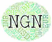Ngn Currency Represents Nigerian Nairas And Fx — Stock Photo