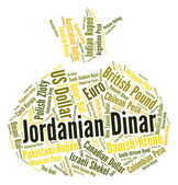 Jordanian Dinar Represents Currency Exchange And Broker — Stock Photo