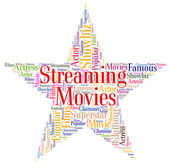Streaming Movies Represents Picture Show And Cinema — Stock Photo