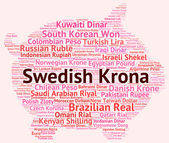Swedish Krona Indicates Foreign Exchange And Broker — Stock Photo