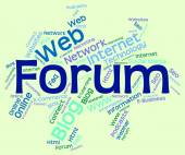 Forum Word Shows Social Media And Chat — Stock Photo