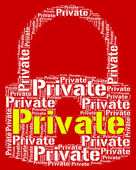 Private Lock Shows Confidentially Words And Word — Stock Photo