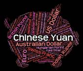 Chinese Yuan Means Forex Trading And Cny — Stock Photo