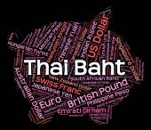 Thai Baht Shows Foreign Exchange And Broker — Stock Photo