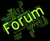 Forum Word Represents Social Media And Chat — Stock Photo