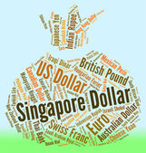 Singapore Dollar Means Worldwide Trading And Broker — Stock Photo