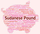 Sudanese Pound Indicates Worldwide Trading And Broker — Stock Photo