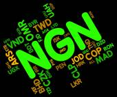 Ngn Currency Represents Nigeria Naira And Exchange — Stock Photo