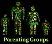 Parenting Groups Indicates Mother And Baby And Association — Stock Photo