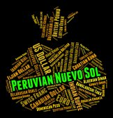 Peruvian Nuevo Sol Means Foreign Exchange And Coinage — Stock Photo