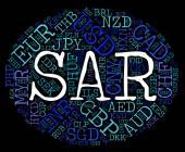 Sar Currency Represents Saudi Arabian Riyals And Coinage — Stock Photo