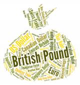 British Pound Shows Foreign Exchange And Currency — Stock Photo