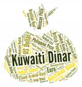 Kuwaiti Dinar Represents Currency Exchange And Currencies — Stock Photo