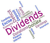 Dividends Word Represents Stock Market And Yield — Stock Photo