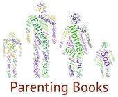 Parenting Books Means Mother And Baby And Studying — Stock Photo