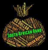South African Rand Means Forex Trading And Exchange — Stock Photo