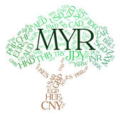 Myr Currency Represents Malaysian Ringgit And Exchange — Stock Photo