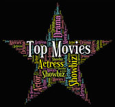 Top Movies Means Motion Picture And Filmography — Stock Photo