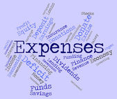 Expenses Word Shows Expenditure Accounting And Business — Stock Photo