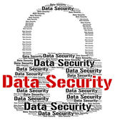 Data Security Shows Fact Bytes And Information — Stock Photo
