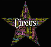 Circus Star Means Big Top And Circuses — Stock Photo