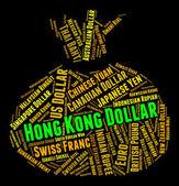 Hong Kong Dollar Indicates Forex Trading And Coin — Stock Photo