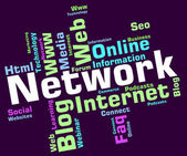 Network Word Represents Networking Words And Global — Stok fotoğraf