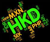 Hkd Currency Represents Hong Kong Dollar And Currencies — Stock Photo