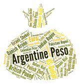 Argentine Peso Represents Exchange Rate And Broker — Stock Photo