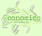 Economics Word Shows Finance Economize And Economical — Stock Photo