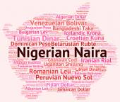 Nigerian Naira Represents Foreign Exchange And Banknote — Stock Photo