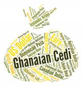 Ghanaian Cedi Shows Forex Trading And Currency — Stock Photo