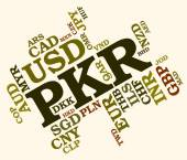 Pkr Currency Shows Pakistan Rupee And Banknotes — Stock Photo
