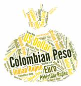 Colombian Peso Indicates Currency Exchange And Currencies — Stock Photo