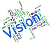 Vision Word Represents Plans Future And Aim — Stock Photo