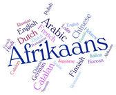 Afrikaans Word Indicates Study Language And Lingo — Stock Photo