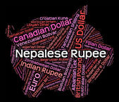 Nepalese Rupee Means Exchange Rate And Foreign — Stock Photo