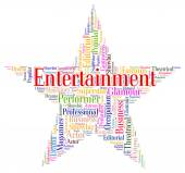 Entertainment Star Indicates Motion Picture And Celebration — Stock Photo