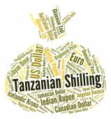 Tanzanian Shilling Means Exchange Rate And Foreign — Stock Photo