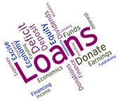 Loans Word Shows Borrow Funding And Borrowing — Stockfoto