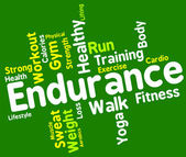 Endurance Word Means Staying Power And Enduring — Stock Photo