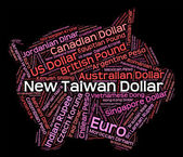 New Taiwan Dollar Represents Currency Exchange And Currencies — Stock Photo