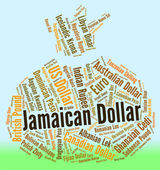 Jamaican Dollar Indicates Currency Exchange And Dollars — Stock Photo