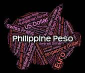 Philippine Peso Means Worldwide Trading And Banknote — Stock Photo