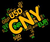 Cny Currency Means Forex Trading And China — Stock Photo