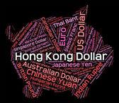 Hong Kong Dollar Represents Foreign Exchange And Banknotes — Stock Photo