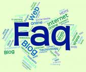 Faq Word Indicates Frequently Asked Questions And Answer — Stock Photo
