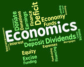 Economics Word Shows Finance Fiscal And Economical — Stock Photo