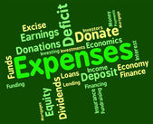 Expenses Word Represents Finances Outlays And Costs — Stock Photo