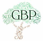 Gbp Currency Indicates Great British Pound And Coinage — Stock Photo